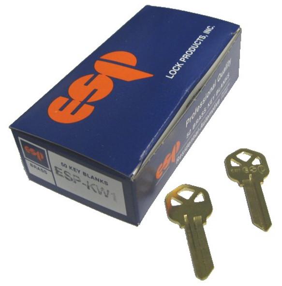 ESP KW1 Key blank, Kwikset Standard KW1