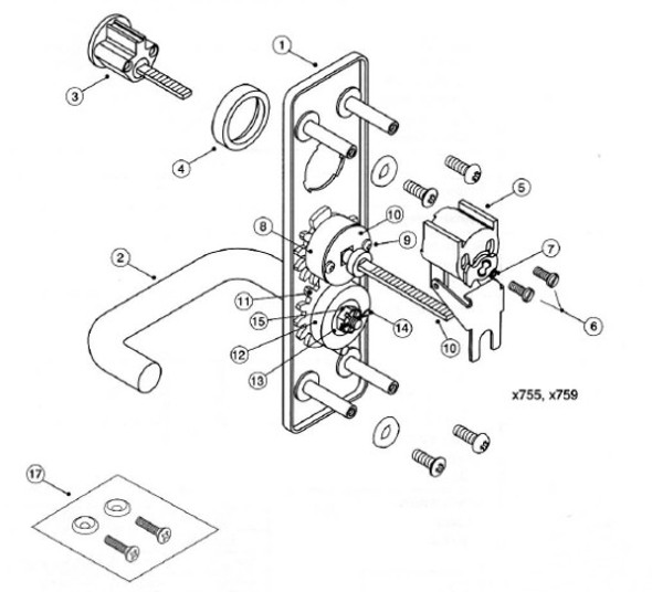 Part, Tailpiece Assembly 655F708