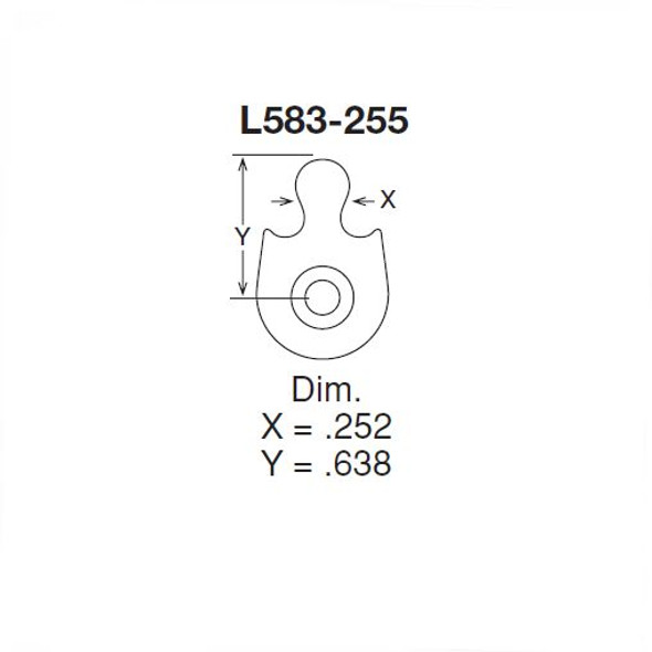 Schlage Cam L-Series IC Mortise Cylinder Housing L583-255