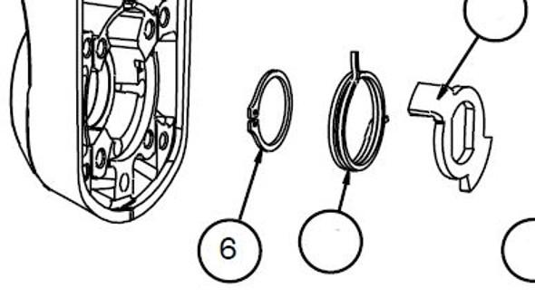 Part, Retaining Ring for Shaft Kit, Kaba E4000 Locks