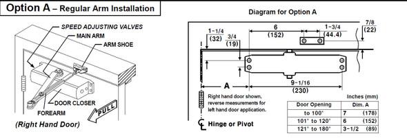 Yale Door Closer, 1101BF 689