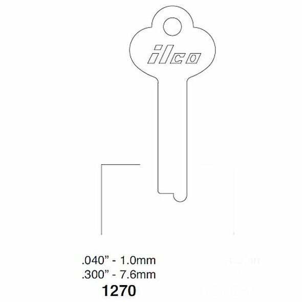Key blank, Ilco 1270
