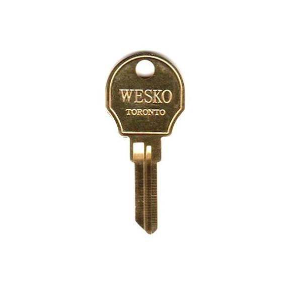 Key blank, Wesko AP2, Steelcase