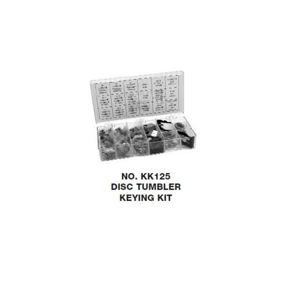 CCL Rekey Kit, KK125 Disc Tumbler Keying Kit (00569)