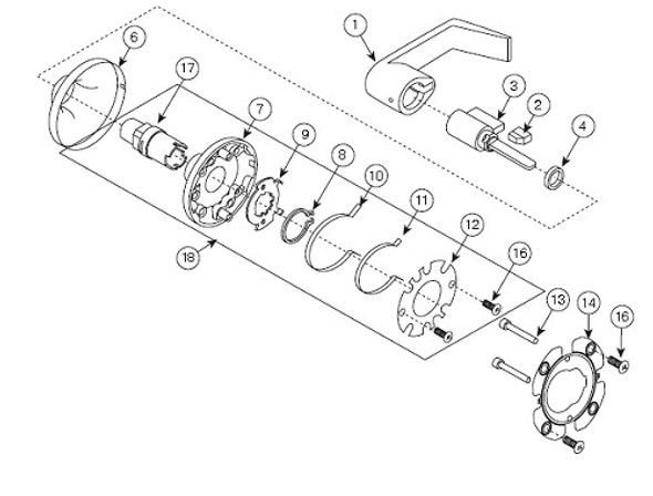 Yale 14-5401-1641-999 Return Spring, Outside For 5400 Series