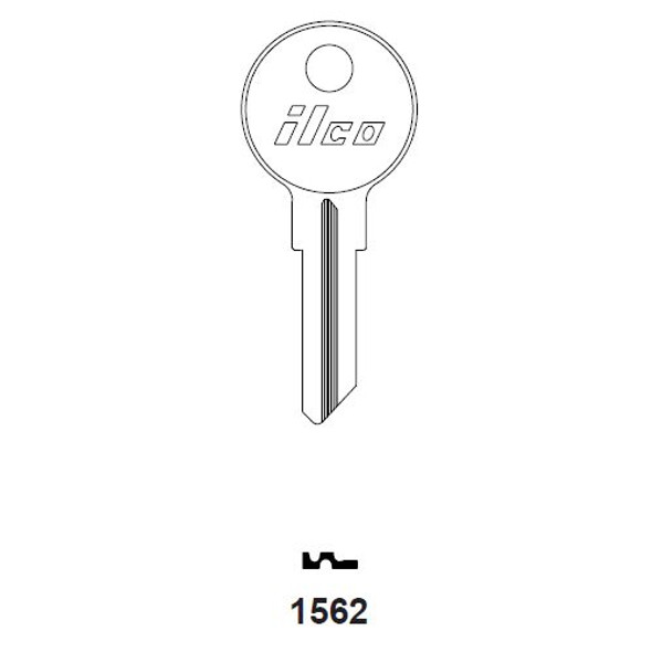 Key blank, Ilco 1562 Hudson H02L