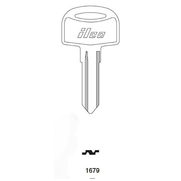 Ilco 1679 Key Blank for Cole Hersee