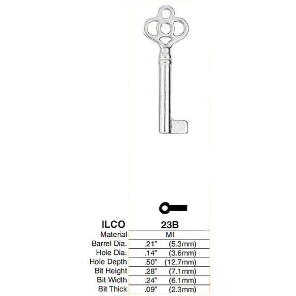 Ilco 23B Key Blank, Bit & Post