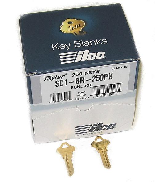 Ilco Taylor SC1-BR-250PK Key Blank SC1 Brass, 250/Box