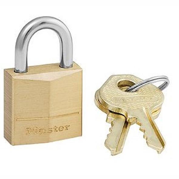 Master Lock 120KAD 1A38 Padlock, Brass Body Keyed Alike 1A38