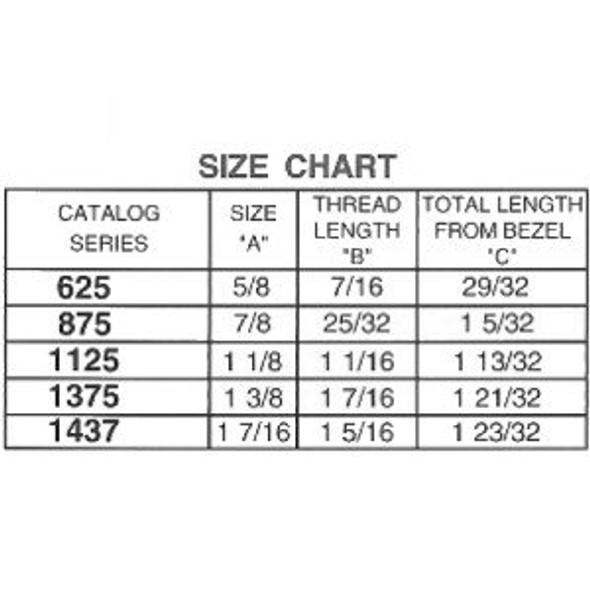 """ESP ULR-875STD Cam Lock 7/8"""", Keyed Alike ES104"""