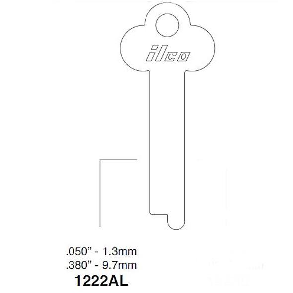 Ilco 1222AL Key Blank