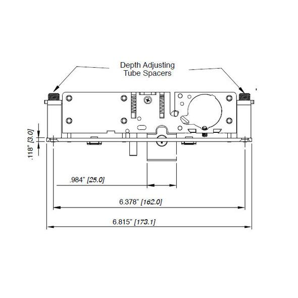 Deadlatch, 1-1/8 Reversible 452-F-3RH-201-628/313