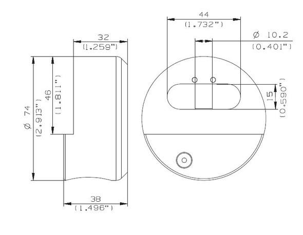 Mul-T-Lock 206SP-TR100 Round Puck Padlock Keyed Different