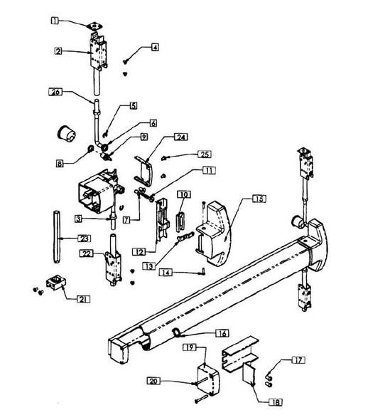 Lock Stile End Cap, Item 50 for Concealed Vertical Rod Device