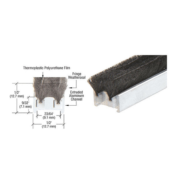 """CRL R011G83L 83-1/4""""  Door Astragal Weatherstrip Adjustable Door Seal,"""