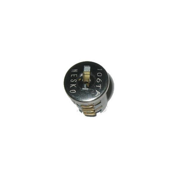 Wesko 106TA Nickel Plug with 2 keys, KA For Timberline