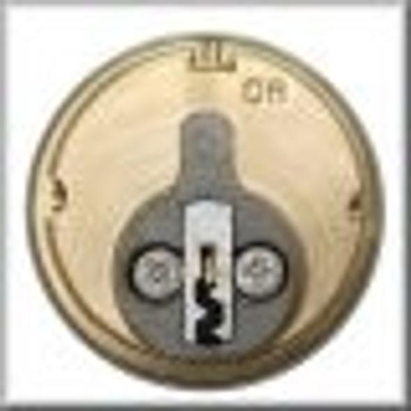 GMS M118-SC-10B Mortise Cylinder 1-1/8, Schlage C SC1/SC4, Keyed Different