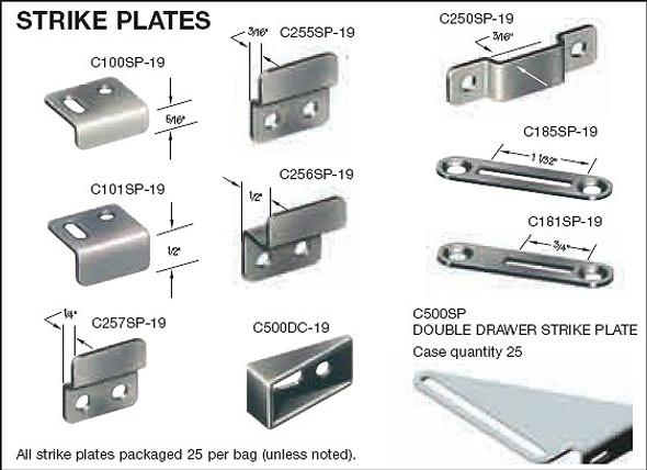 Timberline Strike Plate, C257P-19  black