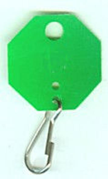Lund 507-C Key Tags, Green Octagonal Unnumbered