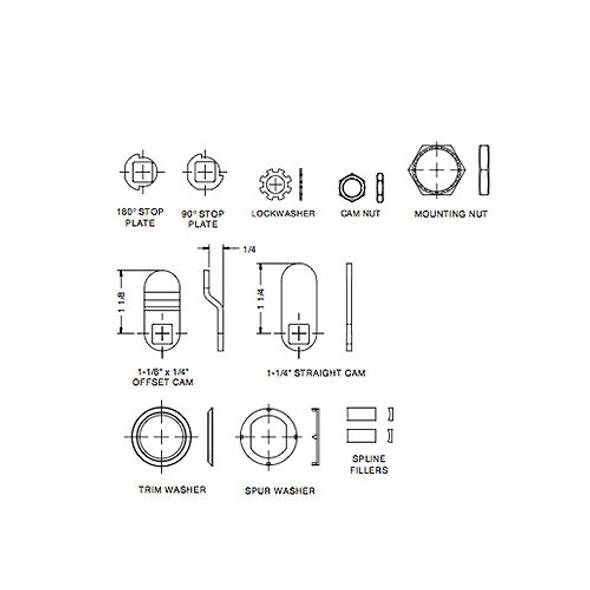 """CCL C651XS KA 8025 (65102) Cam Lock 7/16"""""""