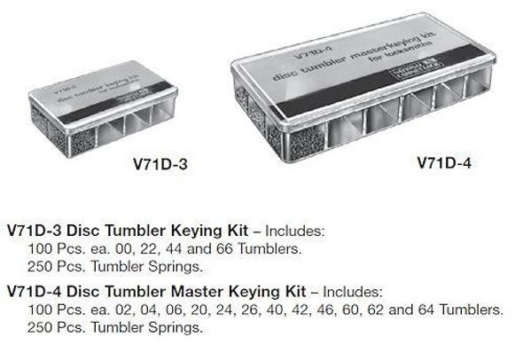 Keying Kit Nationl Disc Tumbler V71D-3