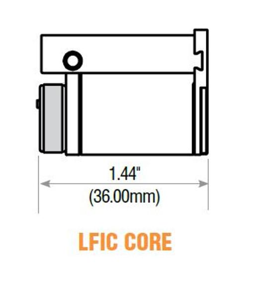 GMS LFIC-SC-26D LFIC Core, Schlage C Keyway, Zero-Bitted