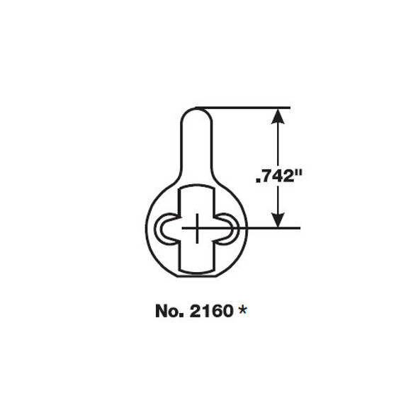 Yale Mortise Cylinder 2197 PARA 7 626 with Core