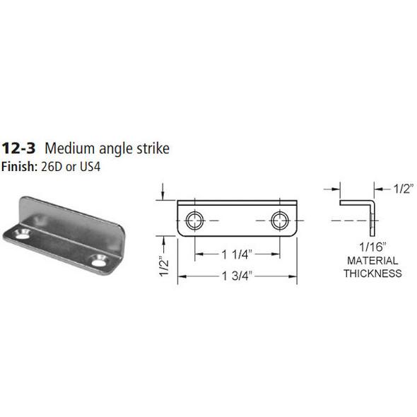 Olympus 12-3 26D Angle Strike, Medium Angle