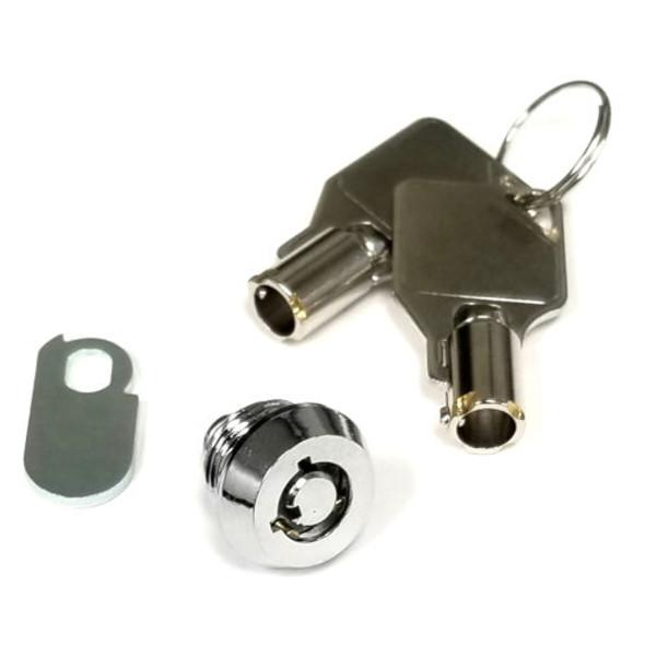 Cam Lock, Mini 6.3mm 90 Degree 2 pulls, Keyed Alike 061