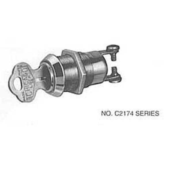 Compx Chicago C2174-2DC KA 2001 Switch Lock,  2 Pulls Keyed Alike 2001