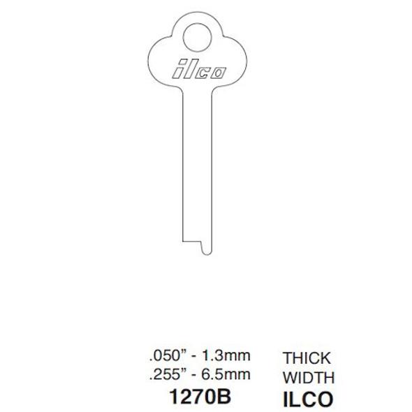 Key blank, Ilco 1270B