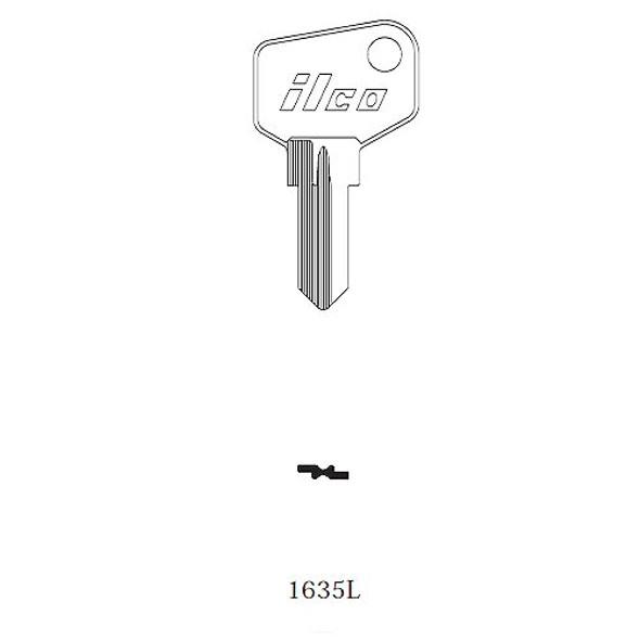 Key blank, Ilco 1635L Arfe -L-