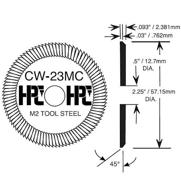 HPC CW-23MC Cutting Wheel for 9160MC