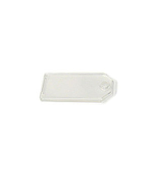 Lucky line 0020210 Clear Key Tag Only, Propionate Clear (100-Pack)