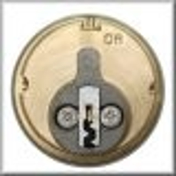 GMS M100-AW-10B Mortise Cylinder 1in, Arrow AR1, Keyed Different