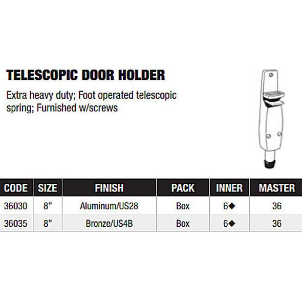 Telescopic Door Holder, UHP 36030