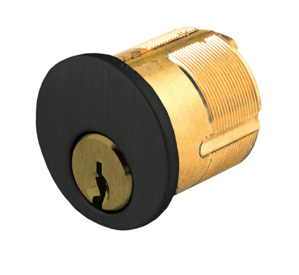 GMS M100-WR-10B Mortise Cylinder 1in, Weiser-E WR5 Keyed Different