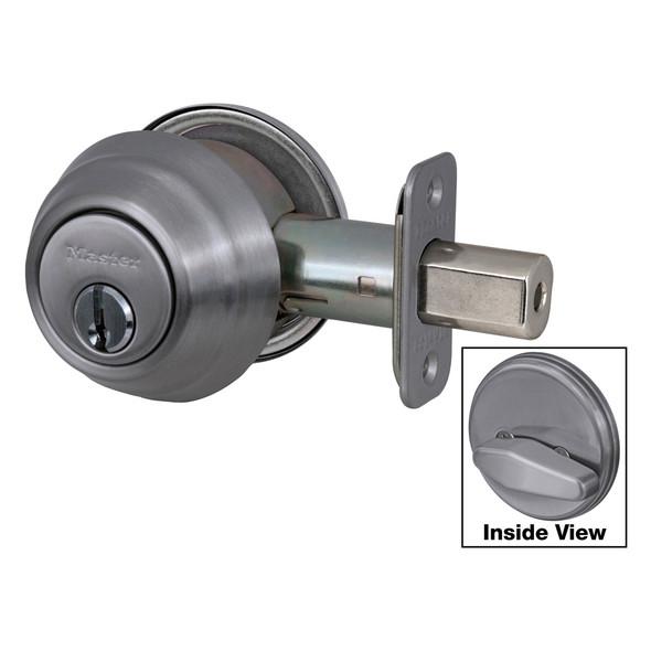 Master Lock DSH0615  Deadbolt, S/C Satin Nickel KW1, Keyed Different