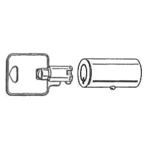 Cylinder AHTC2 Tubular W/2 Keys KA 00511