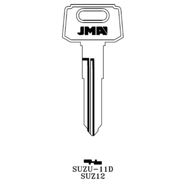 Key blank, JMA SUZU-11D Suzuki