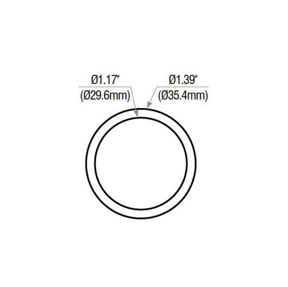 "GMS COL11-10B Blocking Collar, 1/4"" Dark Bronze"