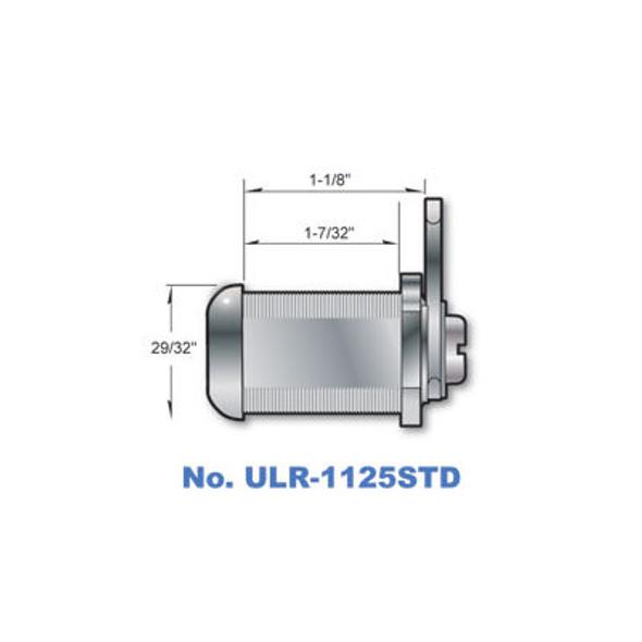"""ESP ULR-1125STD Cam Lock 1-1/8"""", Keyed Alike ES104"""