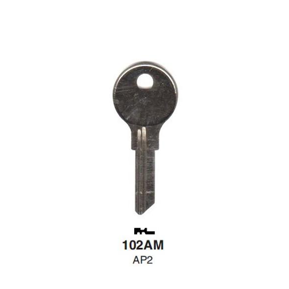 Key blank, Ilco 102AM, Chicago/Steelcase AP2