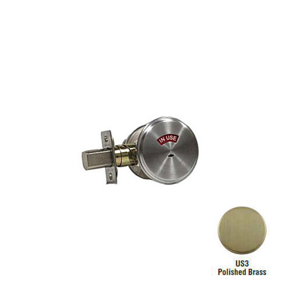 Schlage B571 605 Deadbolt with Indicator, Brass Finish