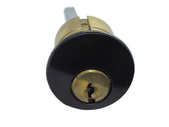 GMS R118-SC 10B Rim Cylinder, Schlage C SC1/SC4, Keyed Different