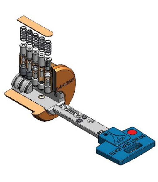 Mul-T-Lock 206SP-KEYBLU-CUT, Interactive Plus 206S+ Cut Key