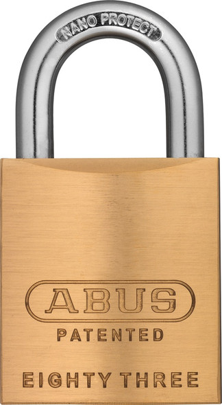 Abus 83/45-900 Brass Body Padlock, Arrow Keyway, Custom Keyed