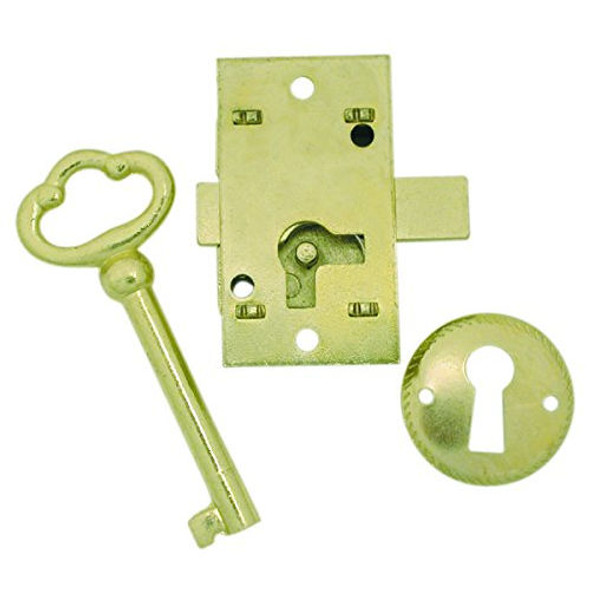 Furniture Lock, Ultra 44819, Brass Finish, 1 Key