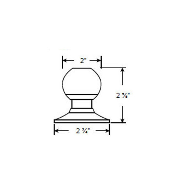 Cal-Royal 7540 Dummy Knob, Stainless Steel 32D